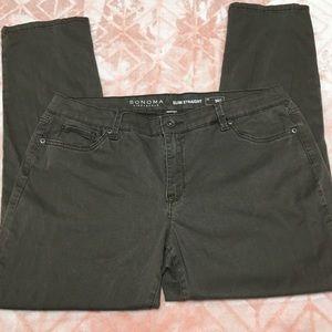 Sonoma Slim Straight 16S Stretchy Pants